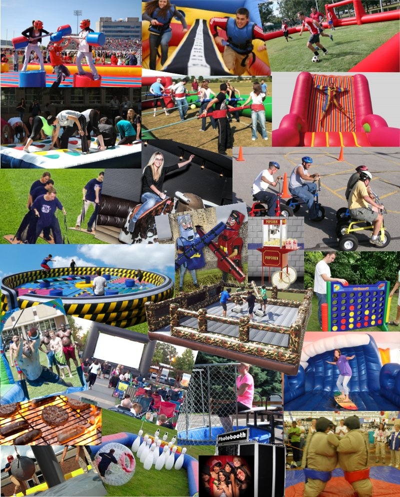 Mechanical Bulls, Rides, Slides, Obstacles & Games and Much More!